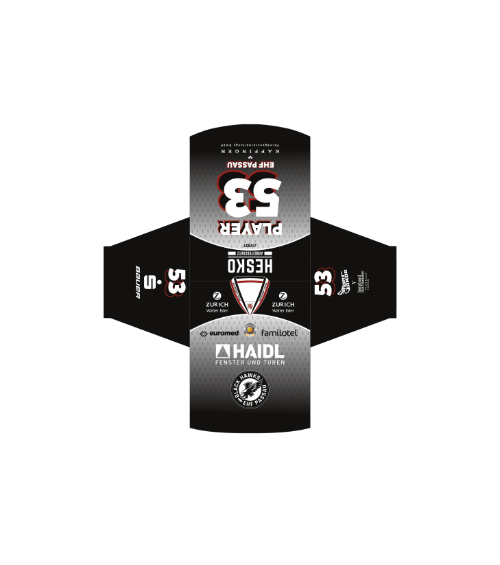 EHF Black Hawk 2020 Game Trikot Black