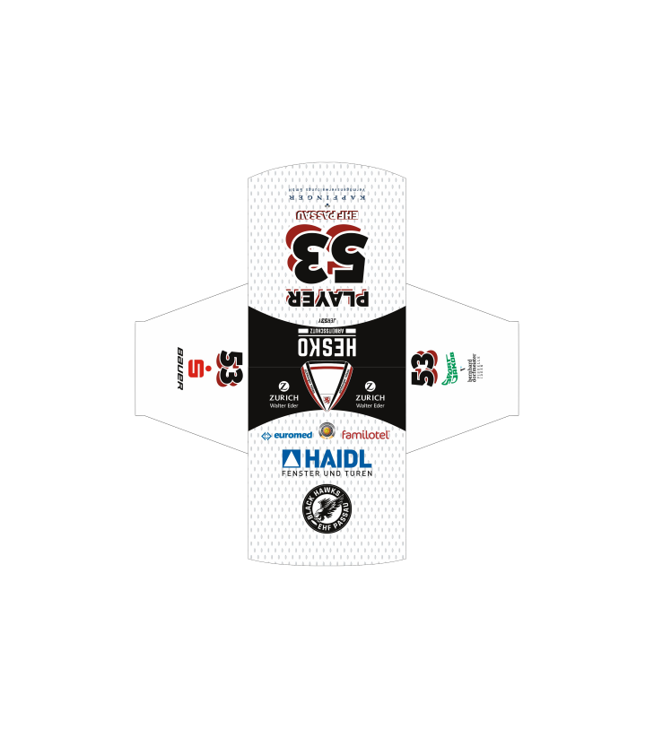 EHF Black Hawks 2020 Game Trikot White