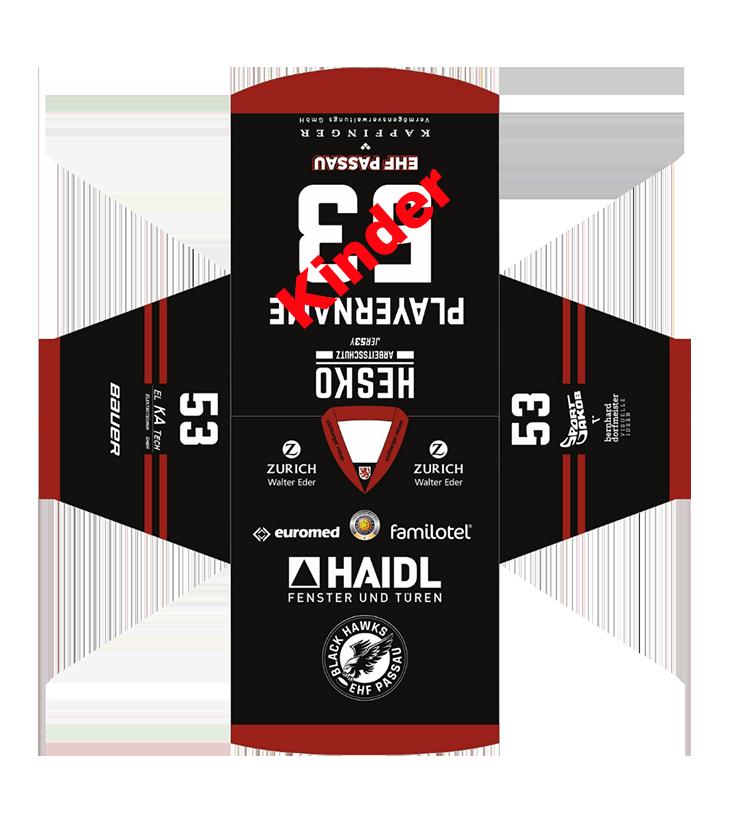EHF Black Hawks 2021 Kinder Game Trikot Black