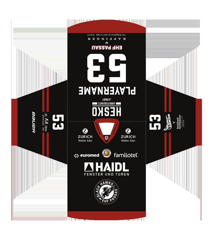EHF Black Hawks 2021 Game Trikot Black