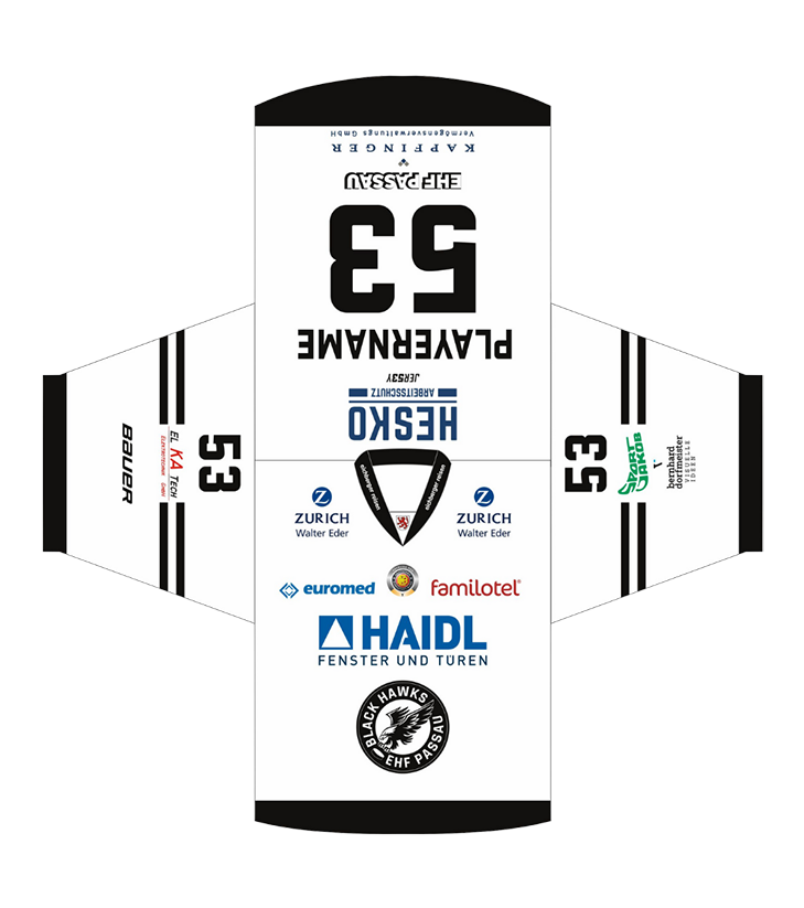EHF Black Hawks 2021 Game Trikot White